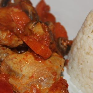 Chicken with Greek Red Sauce