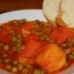 Greek Peas in Red Sauce