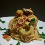 Spaghetti With Tomato And Feta Sauce