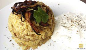 Mujadara Lentils and Bulgur Wheat